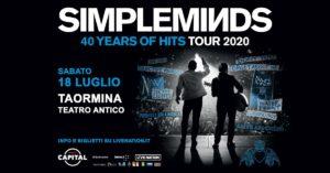 Concerto dei Simple Minds Taormina 2020 @ Teatro Antico di Taormina