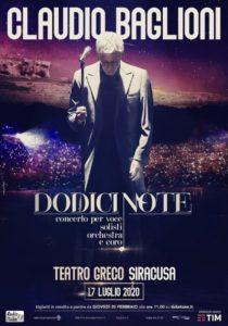 Concerto Claudio Baglioni Siracusa 2020 @ Teatro Greco