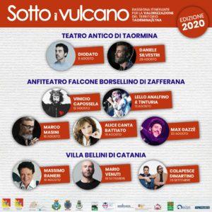 Sotto il Vulcano 2020 - Concerti Live @ Catania, Taormina, Zafferana Etnea