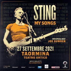 Sting in concerto a Taormina il 27 Settembre 2021 @ Teatro Antico