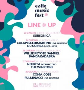 Eolie Music Fest 2021 alle Isole Eolie @ Isole Eolie
