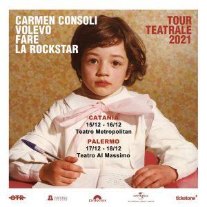 """Carmen Consoli """"Volevo fare la Rockstar"""" 2021 @ Teatro Metropolitan - Teatro Al Massimo"""