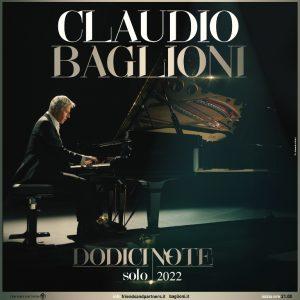 Claudio Baglioni Dodici Note Solo 2022 approda in Sicilia @ Messina, Palermo e Catania